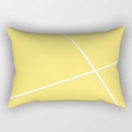 geometric yellow Rectangular Pillow