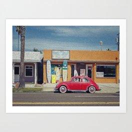 Surf House Art Print
