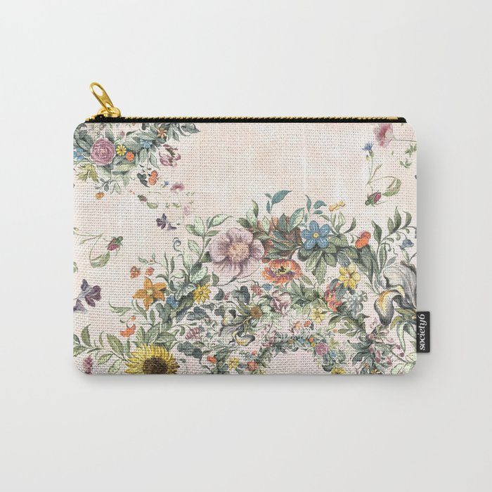 Circle of life- floral Carry-All Pouch