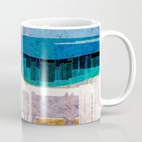 cityscape Mugs featuring CITYSCAPE by Catspaws