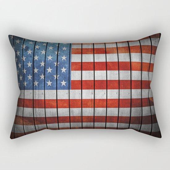 American Flag Rectangular Pillow
