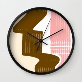 Classic Neapolitan Ice Cream Abstract Wall Clock