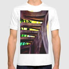 staircase abstract SMALL White Mens Fitted Tee