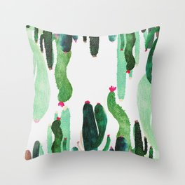 vertical cactus 2.0 Throw Pillow