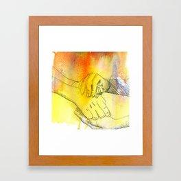 Watercolor Hands Framed Art Print
