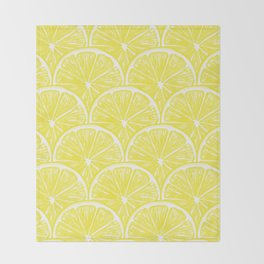 Lemon slices pattern design II Throw Blanket