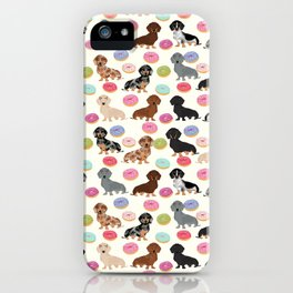Dachshund weener dog donuts cutest doxie gifts for small dog owners iPhone Case