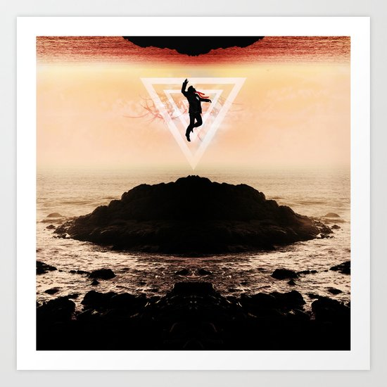Icarus Falls Upward Art Print