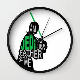 I Am A Jedi Wall Clock