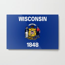 Flag of Wisconsin Metal Print