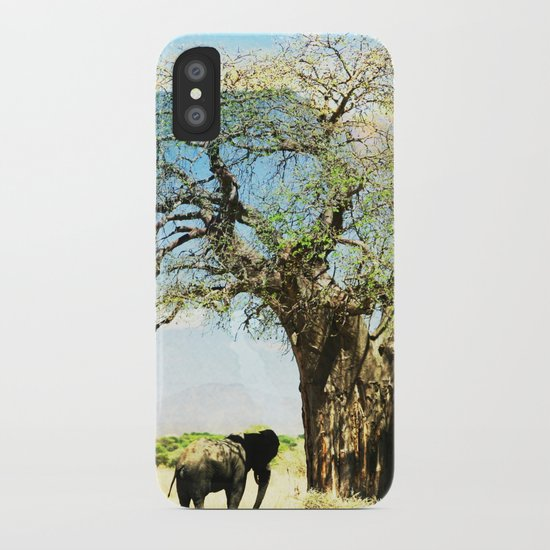 Finding an old friend - elephant in the wild iPhone Case