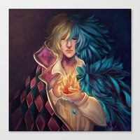 howl Canvas Prints featuring Howl by This Is Niniel Illustrator