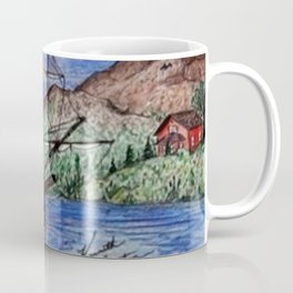 Tall Ship in the Moonlight Coffee Mug