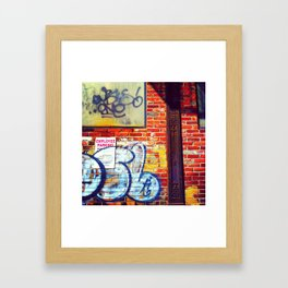drawn to alleys Framed Art Print