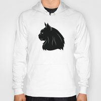 maine Hoodies featuring Maine Coon by Jonathan Hall