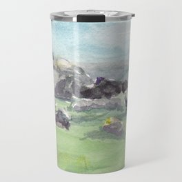 Loughcrew cairns stone circle watercolor painting of Ireland Travel Mug