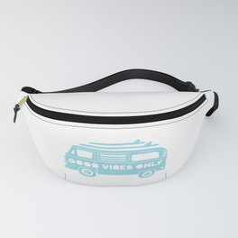 Good Vibes Only retro surfing Camper Van Fanny Pack