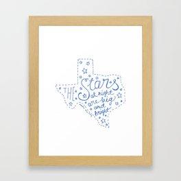 Stars at Night in blue Framed Art Print