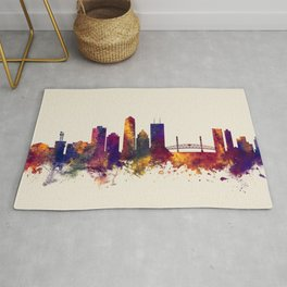 Jacksonville Florida Skyline Rug