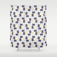 writing Shower Curtains featuring Reading & Writing by Sebastián Guimarey