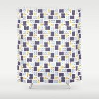 writing Shower Curtains featuring Reading & Writing by Sebastián Guha