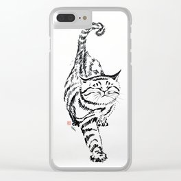 coming the fat cat Clear iPhone Case