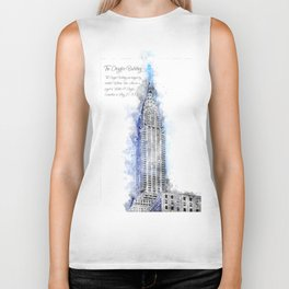 Chrysler Building, Watercolor Biker Tank
