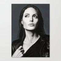 angelina jolie Canvas Prints featuring Angelina Jolie by Liliana Corradini