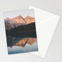 peaceful Moraine lake Stationery Cards