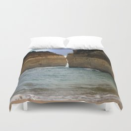 Two Giants on a Collision Course! Duvet Cover