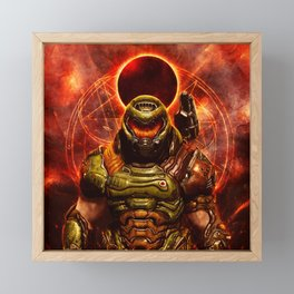 Doom eternal Framed Mini Art Print