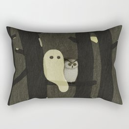 Little Ghost & Owl Rectangular Pillow