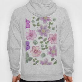 Seamless floral pattern on white background Hoody