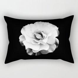 Black and White Rose Blossom... Rectangular Pillow