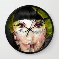 depression Wall Clocks featuring Depression by ADH Graphic Design