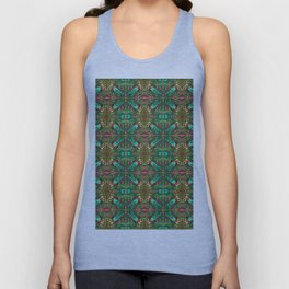 aboriginal style - flowers and leaves 1 green Unisex Tank Top