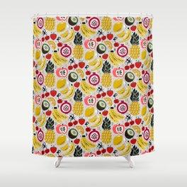 Tropical Fresh Funky Fruit Shower Curtain