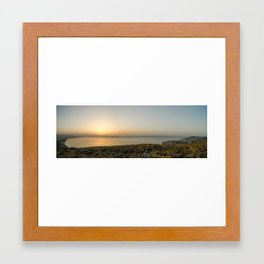 sunrise over Kineret as seen from Arbel cliff Framed Art Print