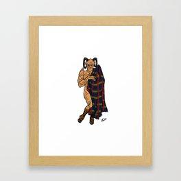 Fyarl Demon Giles Pin up Framed Art Print