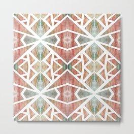 Abstract Watercolor Tile Metal Print