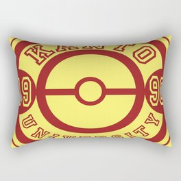 Kanto University 96 logo Rectangular Pillow