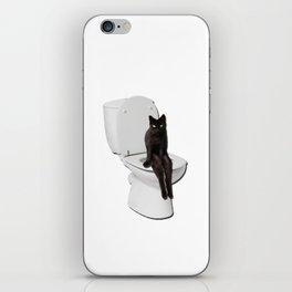 Toilet Cat iPhone Skin