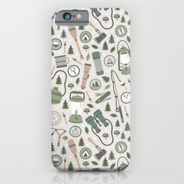 Camping Earth Tones iPhone Case