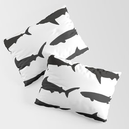 Shark Silhouettes Pillow Sham