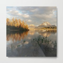 Sunrise on Jackson Lake, Grand Teton National Park Metal Print