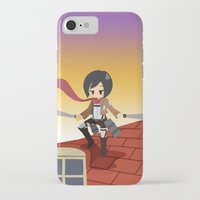 shingeki no kyojin iPhone & iPod Cases featuring Shingeki no Kyojin - Mikasa by Choco-Minto