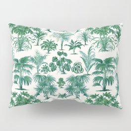 Exotic Tropical Palm Print Pillow Sham