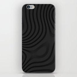 Organic Abstract 01 BLACK iPhone Skin