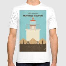 No760 My Moonrise Kingdom minimal movie poster Mens Fitted Tee White MEDIUM