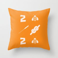 2 bee oar knot 2 bee Throw Pillow